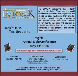 29th Annual Bible Conference&Graduation